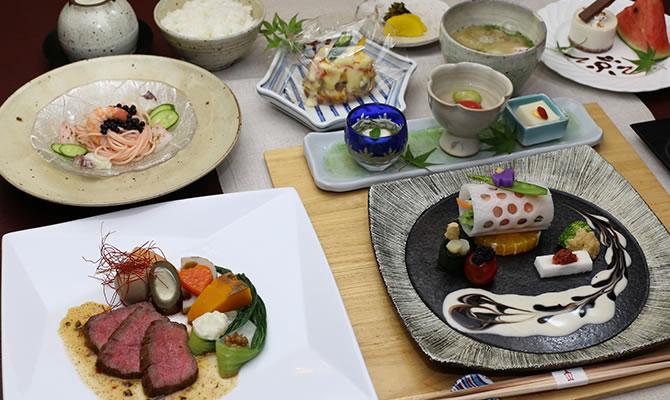 和洋折衷の「ハイカラ膳」は味も見た目も楽しめる